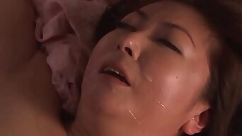 Son visit Japanese mommy within reach night to fuck her pussy