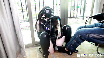 Fejira com – Latex girl mask breathplay and spanking femdom